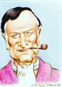 Hugh Hefner by Mort Drucker