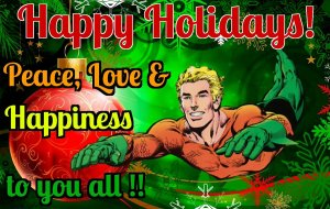 happy holidays from aquaman