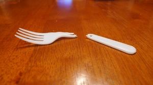 broken plastic fork